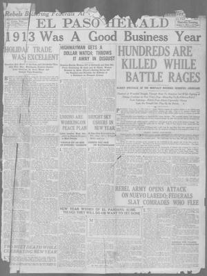 Primary view of object titled 'El Paso Herald (El Paso, Tex.), Ed. 1, Thursday, January 1, 1914'.