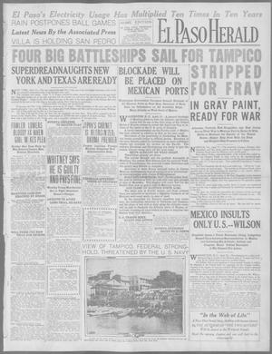 Primary view of object titled 'El Paso Herald (El Paso, Tex.), Ed. 1, Wednesday, April 15, 1914'.