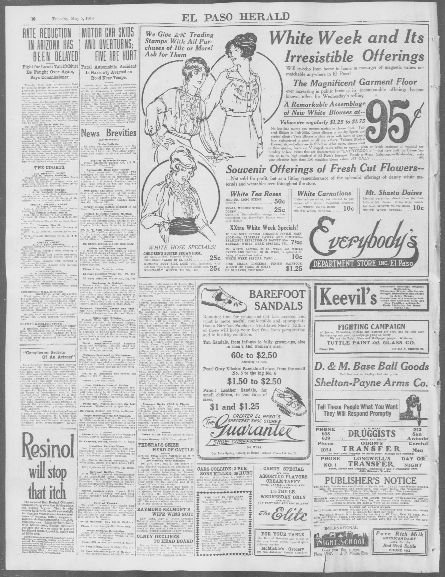El Paso Herald (El Paso, Tex ), Ed  1, Tuesday, May 5, 1914