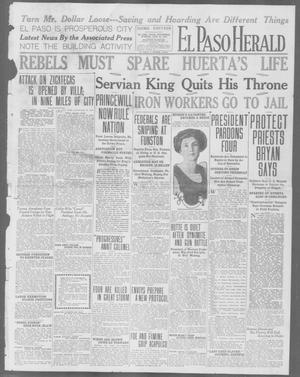 Primary view of object titled 'El Paso Herald (El Paso, Tex.), Ed. 1, Wednesday, June 24, 1914'.