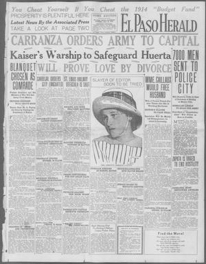 Primary view of object titled 'El Paso Herald (El Paso, Tex.), Ed. 1, Saturday, July 18, 1914'.