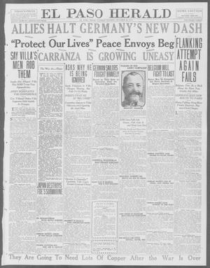 Primary view of object titled 'El Paso Herald (El Paso, Tex.), Ed. 1, Tuesday, October 20, 1914'.