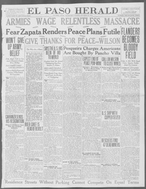 Primary view of object titled 'El Paso Herald (El Paso, Tex.), Ed. 1, Wednesday, October 28, 1914'.