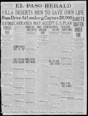 Primary view of object titled 'El Paso Herald (El Paso, Tex.), Ed. 1, Saturday, July 29, 1916'.
