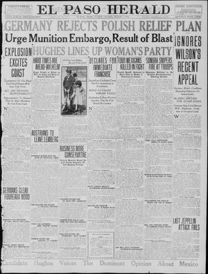 Primary view of object titled 'El Paso Herald (El Paso, Tex.), Ed. 1, Tuesday, August 1, 1916'.