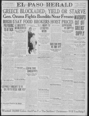 Primary view of object titled 'El Paso Herald (El Paso, Tex.), Ed. 1, Saturday, December 9, 1916'.