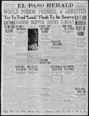 Primary view of object titled 'El Paso Herald (El Paso, Tex.), Ed. 1, Wednesday, January 31, 1917'.