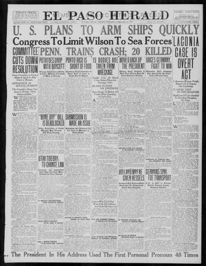 Primary view of object titled 'El Paso Herald (El Paso, Tex.), Ed. 1, Tuesday, February 27, 1917'.