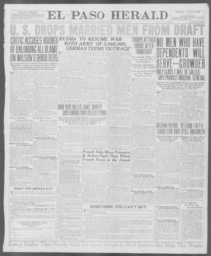 Primary view of object titled 'El Paso Herald (El Paso, Tex.), Ed. 1, Thursday, January 3, 1918'.