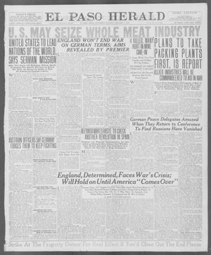 Primary view of object titled 'El Paso Herald (El Paso, Tex.), Ed. 1, Saturday, January 5, 1918'.