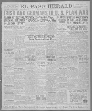 Primary view of object titled 'El Paso Herald (El Paso, Tex.), Ed. 1, Tuesday, May 21, 1918'.