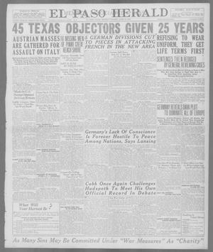 Primary view of object titled 'El Paso Herald (El Paso, Tex.), Ed. 1, Monday, June 10, 1918'.