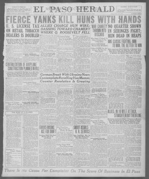 Primary view of object titled 'El Paso Herald (El Paso, Tex.), Ed. 1, Thursday, August 1, 1918'.