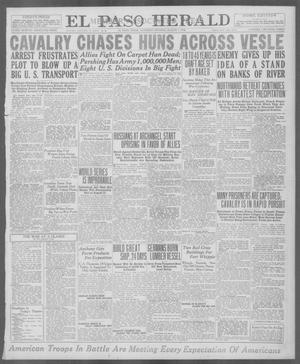 Primary view of object titled 'El Paso Herald (El Paso, Tex.), Ed. 1, Saturday, August 3, 1918'.