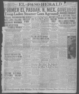 Primary view of object titled 'El Paso Herald (El Paso, Tex.), Ed. 1, Wednesday, January 1, 1919'.