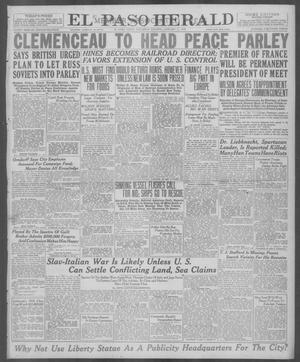 Primary view of object titled 'El Paso Herald (El Paso, Tex.), Ed. 1, Saturday, January 11, 1919'.
