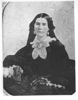 Primary view of object titled '[Copy of an original tintype of Henrietta Moore.]'.