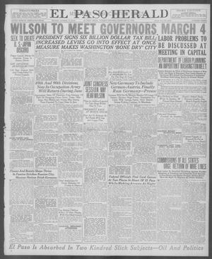 Primary view of object titled 'El Paso Herald (El Paso, Tex.), Ed. 1, Tuesday, February 25, 1919'.