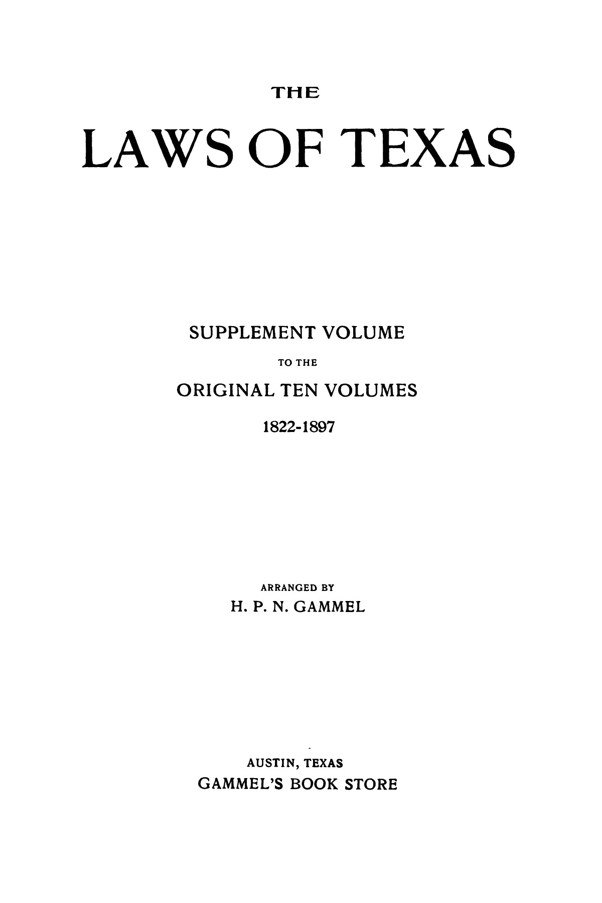 The Laws of Texas, 1919 [Volume 19]                                                                                                      [Sequence #]: 1 of 1570