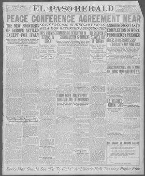 Primary view of object titled 'El Paso Herald (El Paso, Tex.), Ed. 1, Monday, April 7, 1919'.