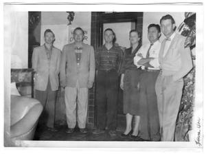 Primary view of object titled 'Van Horn Chamber of Commerce Officers at El Capitan Hotel'.