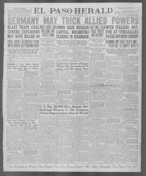 Primary view of object titled 'El Paso Herald (El Paso, Tex.), Ed. 1, Saturday, May 3, 1919'.