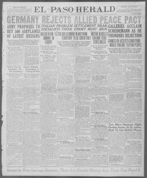 Primary view of object titled 'El Paso Herald (El Paso, Tex.), Ed. 1, Tuesday, May 13, 1919'.