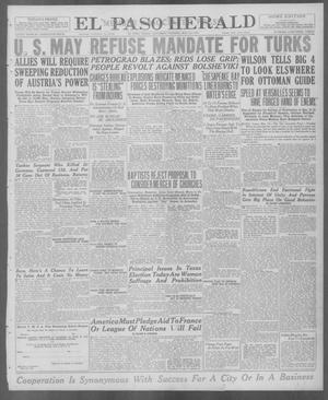 Primary view of object titled 'El Paso Herald (El Paso, Tex.), Ed. 1, Saturday, May 24, 1919'.