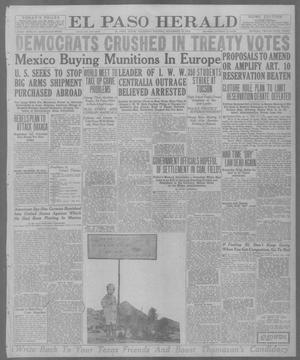 Primary view of object titled 'El Paso Herald (El Paso, Tex.), Ed. 1, Thursday, November 13, 1919'.