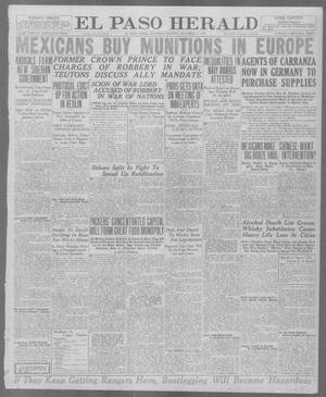 Primary view of object titled 'El Paso Herald (El Paso, Tex.), Ed. 1, Saturday, December 27, 1919'.