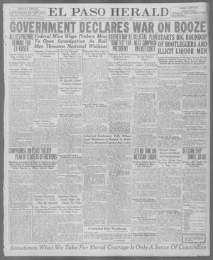 Primary view of object titled 'El Paso Herald (El Paso, Tex.), Ed. 1, Monday, December 29, 1919'.