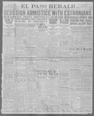 Primary view of object titled 'El Paso Herald (El Paso, Tex.), Ed. 1, Thursday, January 1, 1920'.
