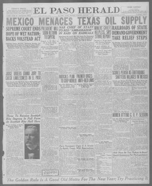 Primary view of object titled 'El Paso Herald (El Paso, Tex.), Ed. 1, Monday, January 5, 1920'.
