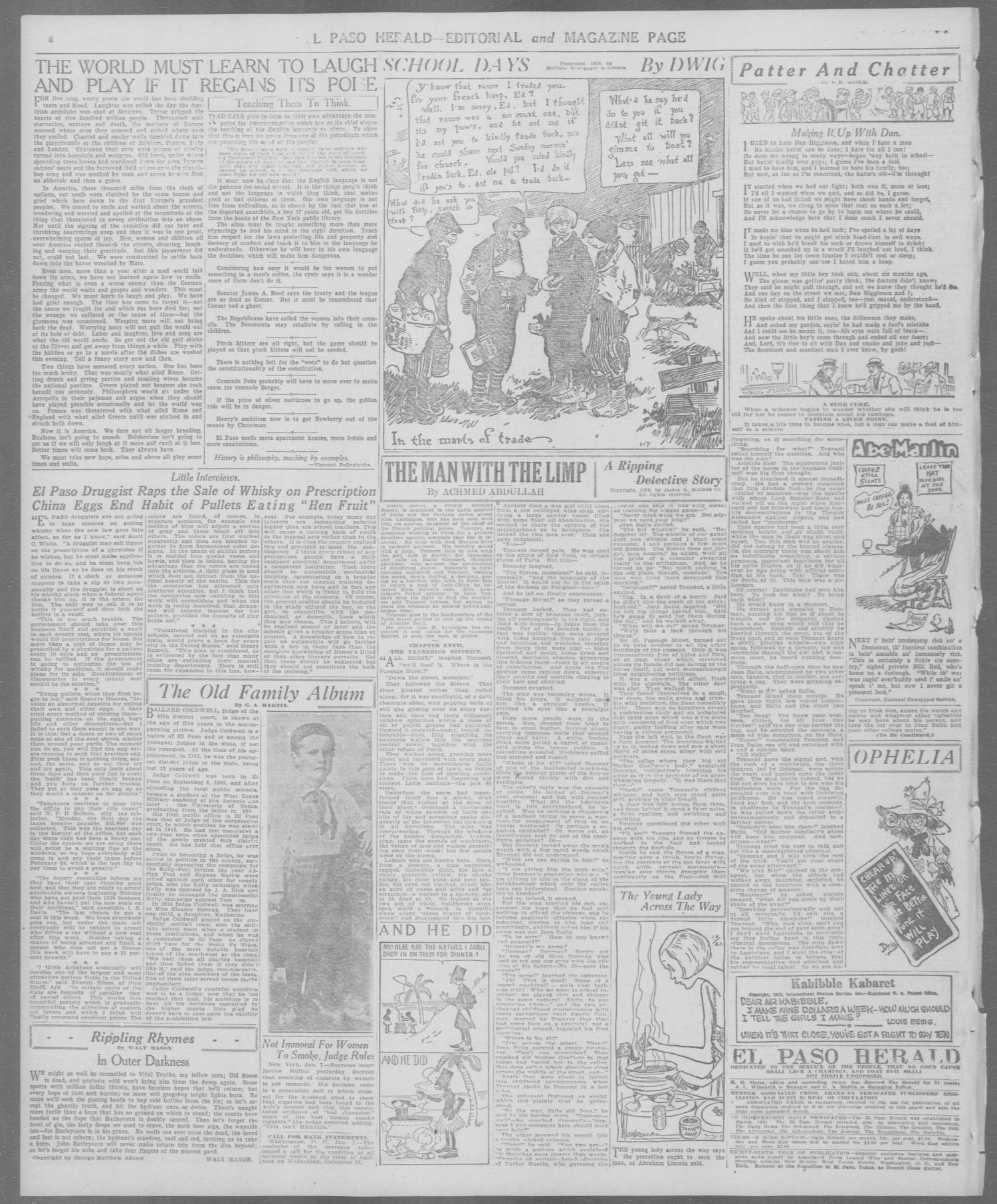 El Paso Herald (El Paso, Tex.), Ed. 1, Wednesday, January 7, 1920                                                                                                      [Sequence #]: 6 of 12