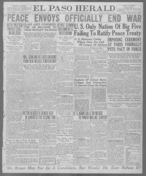 Primary view of object titled 'El Paso Herald (El Paso, Tex.), Ed. 1, Saturday, January 10, 1920'.
