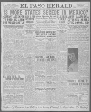 Primary view of object titled 'El Paso Herald (El Paso, Tex.), Ed. 1, Monday, April 12, 1920'.