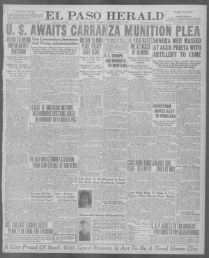 Primary view of object titled 'El Paso Herald (El Paso, Tex.), Ed. 1, Thursday, April 22, 1920'.