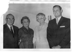 Primary view of object titled 'Mr. and Mrs. Chaney, Mrs. Posey, and Otis Hill'.