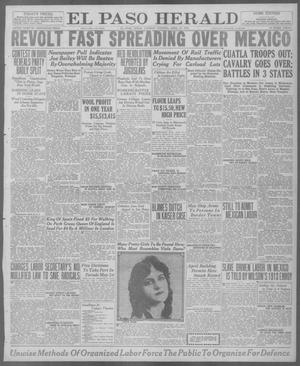 Primary view of object titled 'El Paso Herald (El Paso, Tex.), Ed. 1, Tuesday, April 27, 1920'.