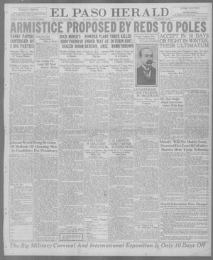 Primary view of object titled 'El Paso Herald (El Paso, Tex.), Ed. 1, Friday, September 24, 1920'.