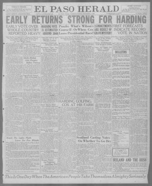 Primary view of object titled 'El Paso Herald (El Paso, Tex.), Ed. 1, Tuesday, November 2, 1920'.