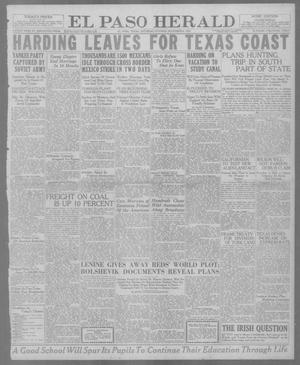 Primary view of object titled 'El Paso Herald (El Paso, Tex.), Ed. 1, Saturday, November 6, 1920'.