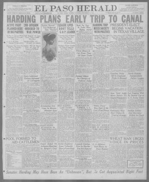 Primary view of object titled 'El Paso Herald (El Paso, Tex.), Ed. 1, Tuesday, November 9, 1920'.
