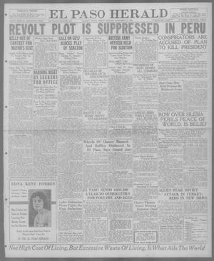 Primary view of object titled 'El Paso Herald (El Paso, Tex.), Ed. 1, Friday, November 12, 1920'.