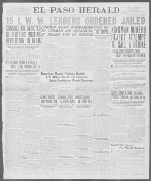 Primary view of object titled 'El Paso Herald (El Paso, Tex.), Ed. 1, Saturday, July 7, 1917'.