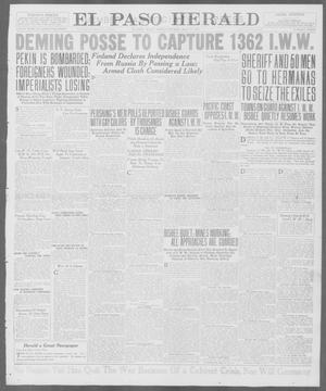 Primary view of object titled 'El Paso Herald (El Paso, Tex.), Ed. 1, Friday, July 13, 1917'.