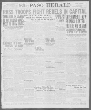 Primary view of object titled 'El Paso Herald (El Paso, Tex.), Ed. 1, Thursday, July 19, 1917'.