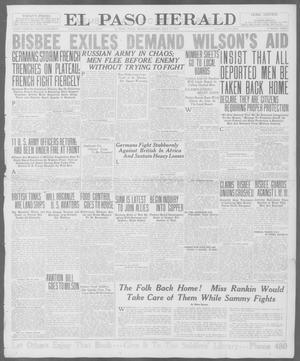 Primary view of object titled 'El Paso Herald (El Paso, Tex.), Ed. 1, Monday, July 23, 1917'.