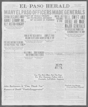Primary view of object titled 'El Paso Herald (El Paso, Tex.), Ed. 1, Tuesday, August 14, 1917'.