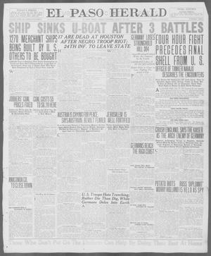 Primary view of object titled 'El Paso Herald (El Paso, Tex.), Ed. 1, Friday, August 24, 1917'.